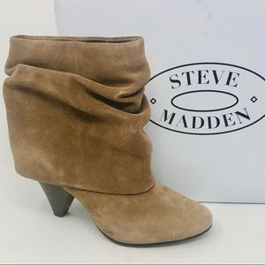 Steve Madden Suede Heeled Ankle Boots